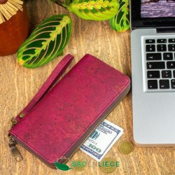 Portefeuille en liège naturel ou en vert