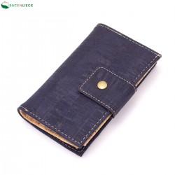 Portefeuille en liège bleu