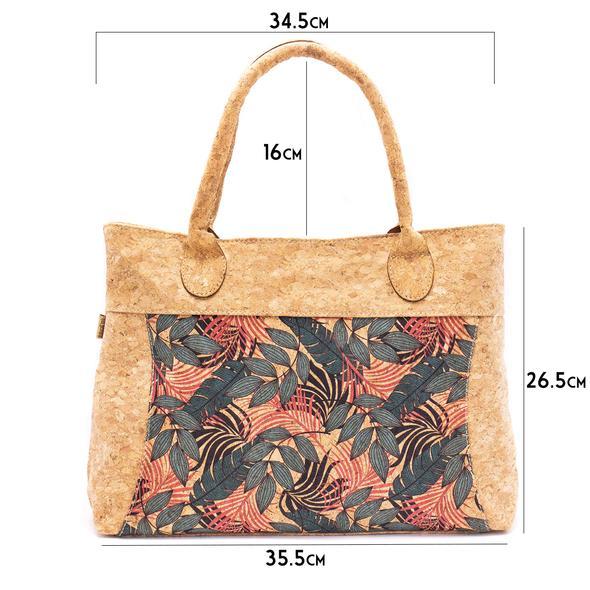 sac à main en liège fleurs pour femme dimensions
