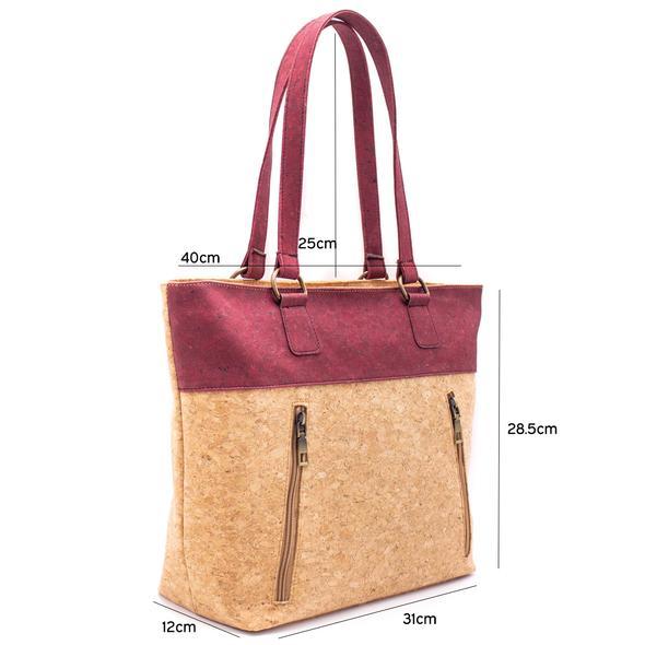 dimensions sac en liège pour femme porté épaule