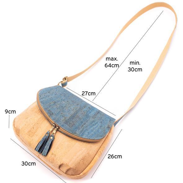 sac bandoulière en liège pour femme dimensions